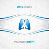 Lung Cancer Awareness Month Background illustration libre de droits