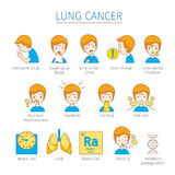 Lung Cancer Icons Set Photos stock
