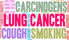 Lung Cancer Word Cloud royaltyfri illustrationer