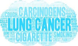 Lung Cancer Word Cloud vektor illustrationer