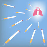 Lung and cigarette. Royalty Free Stock Photo
