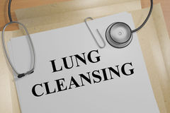 Lung Cleansing - medical concept. 3D illustration of LUNG CLEANSING title on a medical document Royalty Free Stock Photography