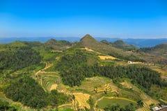 Lung Cu - la frontière entre la Chine et le Vietnam image stock