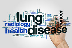 Lung disease word cloud Stock Image