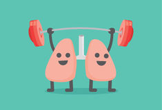 Lung enjoy with weight lifting. Royalty Free Stock Image