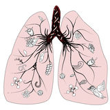Lung health vector Stock Image