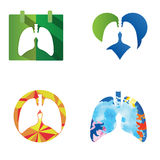Lung icons Vector Stock Photography