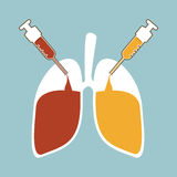 Lung recovery Stock Images
