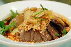 Lung slice Beef and Ox Tripe in Chili Sauce Stock Image