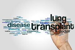 Lung transplant word cloud Stock Photo