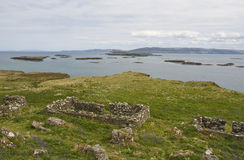 Lunga, Treshnish Isles. View from Lunga, largest of the Treshnish Isles, an archipelago of 8 islands lying approximately 3 km west of Mull, Argyll and Bute Royalty Free Stock Photo