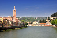 Lungadige Verona in Verona, Italy Stock Photos