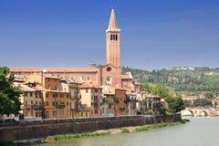 Lungadige Verona in Verona, Italy Stock Images