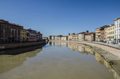 Lungarni, Pisa lizenzfreies stockbild