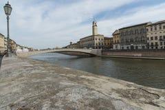 Lungarno con il mezzo ponte Pisa Toscana Italia Europa Fotografia Stock
