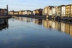 Lungarno - Pisa Fotografía de archivo libre de regalías