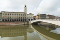Lungarno pisa tuscany italy europe Stock Image