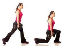 Lunge άσκηση Στοκ εικόνες με δικαίωμα ελεύθερης χρήσης