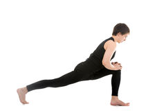 Lunge exercise Stock Images
