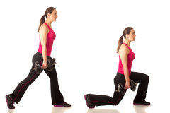 Lunge Exercise Royalty Free Stock Images