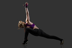 Lunge exercises Stock Images