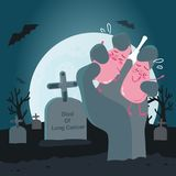 Lunge mit Krebs stock abbildung