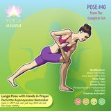 40 Lunge Pose with Hands in Prayer stock images