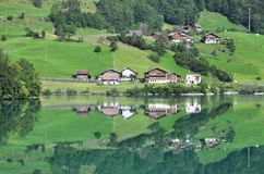 Lungerer lake , Switzerlnd Stock Image