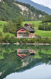 Lungerer lake , Switzerlnd Stock Photo