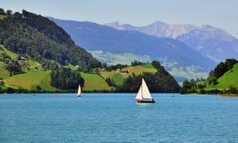 Lungern jezioro Zdjęcie Royalty Free