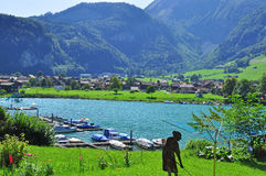 Lungern swiss village Royalty Free Stock Images