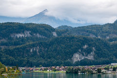 LUNGERN, SWITZERLAND/ EUROPE - SEPTEMBER 22:  View of Swiss chal Royalty Free Stock Images