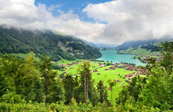 Lungern village Royalty Free Stock Photography