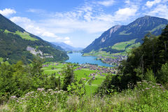 Lungern village in Switzerland Stock Photo