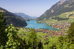 Lungern village, Switzerland Stock Photos