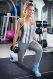 Lunges with Dumbbell Stock Photos