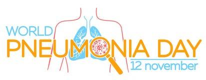 Lunginflammationdagillustration vektor illustrationer