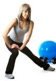 lunging sportswoman Стоковое Изображение RF