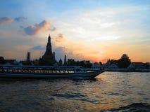 Lungo il fiume di Chaophraya Fotografia Stock Libera da Diritti