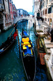 Lungo le vie delle serie di Venezia Fotografie Stock