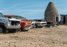 Lungo Route 66 nel deserto dell'Arizona Immagine Stock Libera da Diritti