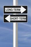 A lungo termine o a breve termine Immagini Stock
