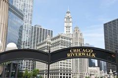 Lungofiume in Chicago Fotografia Stock