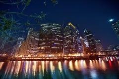 Lungofiume del Chicago Fotografia Stock