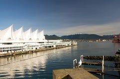 Lungomare del centro di Vancouver Fotografia Stock