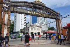 Lungomare del punto di Jesselton a Kota Kinabalu, Sabah Immagini Stock Libere da Diritti
