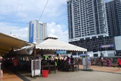 Lungomare del punto di Jesselton a Kota Kinabalu, Sabah Fotografia Stock Libera da Diritti