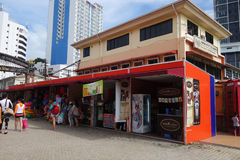 Lungomare del punto di Jesselton a Kota Kinabalu, Sabah Immagine Stock