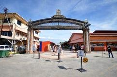 Lungomare del punto di Jesselton a Kota Kinabalu, Sabah Immagine Stock Libera da Diritti