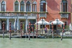 Lungomare del ristorante di Venezia Fotografia Stock
